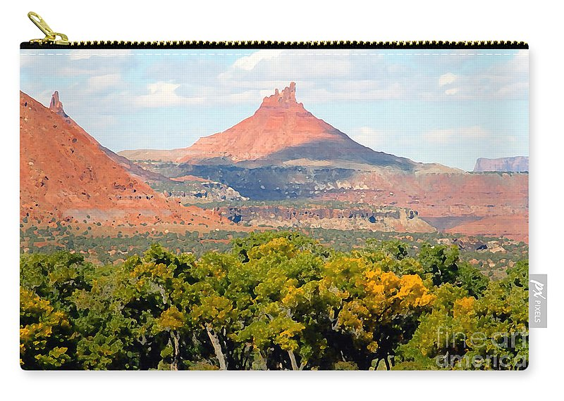 Fall Carry-all Pouch featuring the photograph A Touch Of Fall by David Lee Thompson
