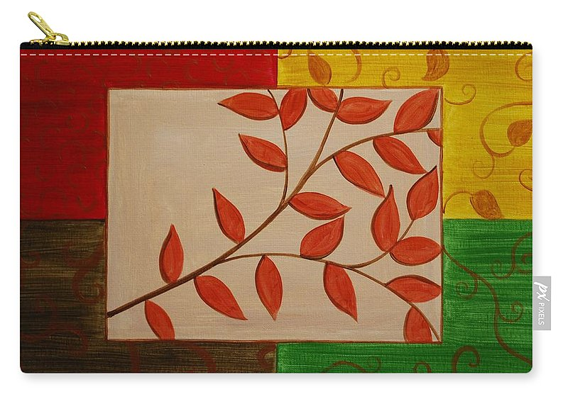 Fall Carry-all Pouch featuring the painting A Touch Of Fall by Emily Page