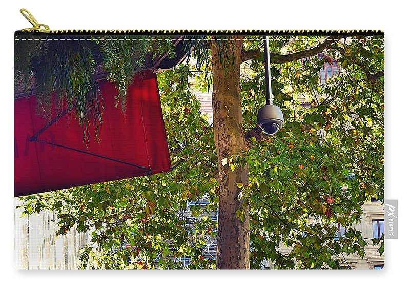 Tree Carry-all Pouch featuring the photograph A Touch Of Red by Valerie Dauce