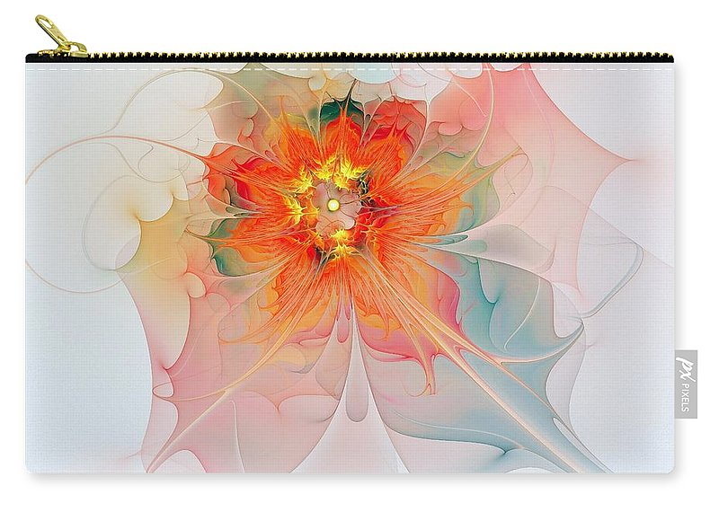 Digital Art Carry-all Pouch featuring the digital art A Touch of Spring by Amanda Moore