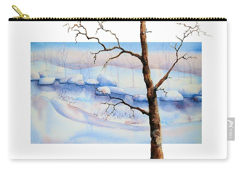 Tree Carry-all Pouch featuring the painting A Tree In Another Dimension by Debbie Lewis