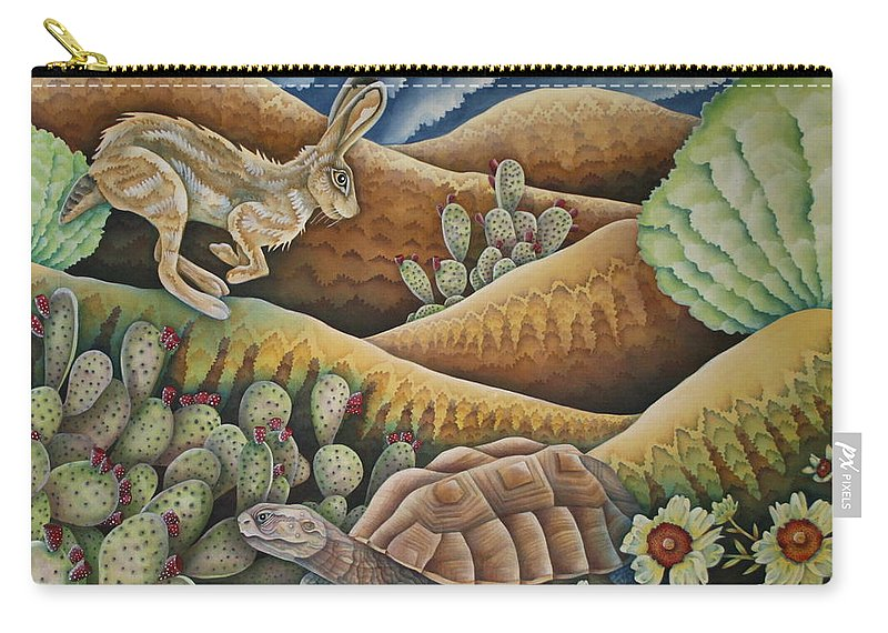 Aesop Carry-all Pouch featuring the painting A Tribute To Aesop by Jeniffer Stapher-Thomas