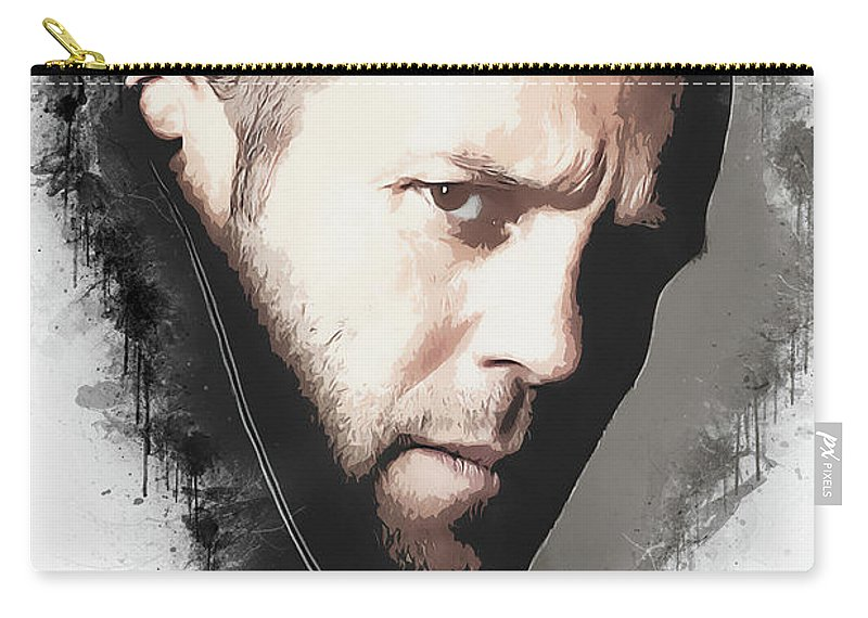 Movies Carry-all Pouch featuring the digital art A Tribute to JASON STATHAM by Dusan Naumovski