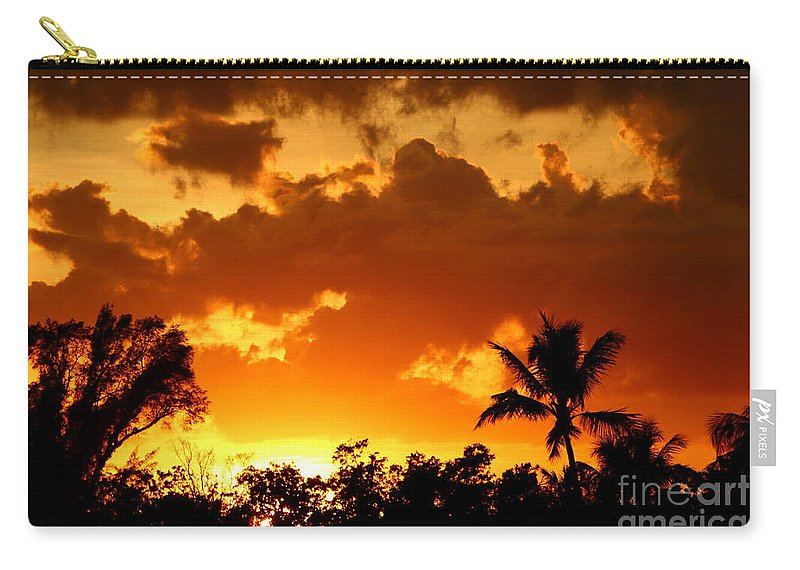 Sunset Carry-all Pouch featuring the photograph A Tropical Sunset by Christiane Schulze Art And Photography