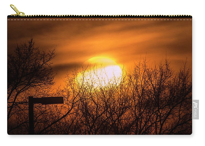 Vague Carry-all Pouch featuring the photograph A Vague Sun by Brian Kenney