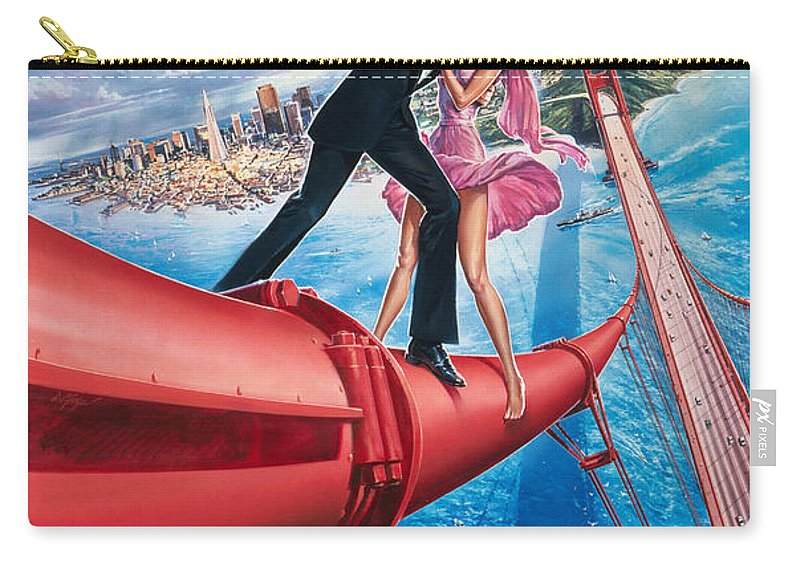 007 A View To A Kill 1985 Carry-all Pouch featuring the digital art A View To A Kill 1985 by Geek N Rock
