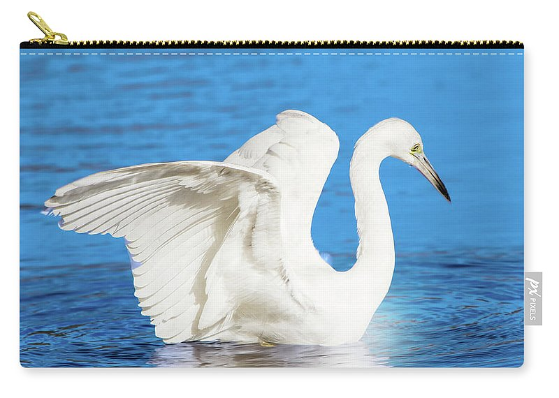Egret Carry-all Pouch featuring the photograph A Vision In White by Mark Andrew Thomas