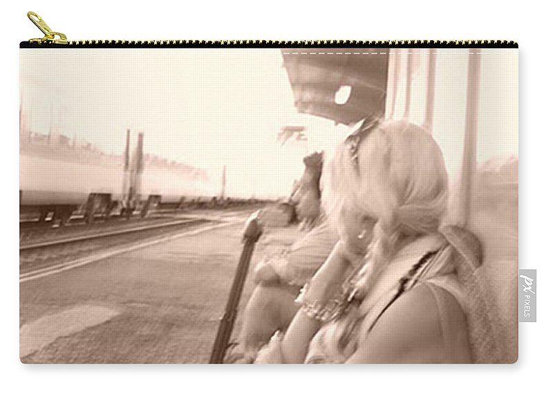 Fay Carry-all Pouch featuring the photograph A Waiting Game by Fay Lawrence