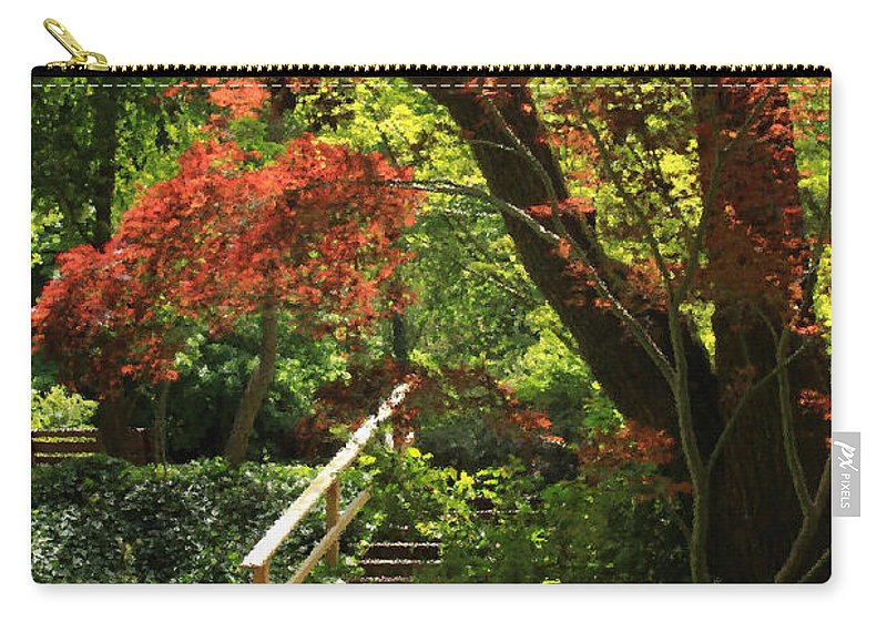 Floral Carry-all Pouch featuring the photograph A Walk In Lithia Park by James Eddy