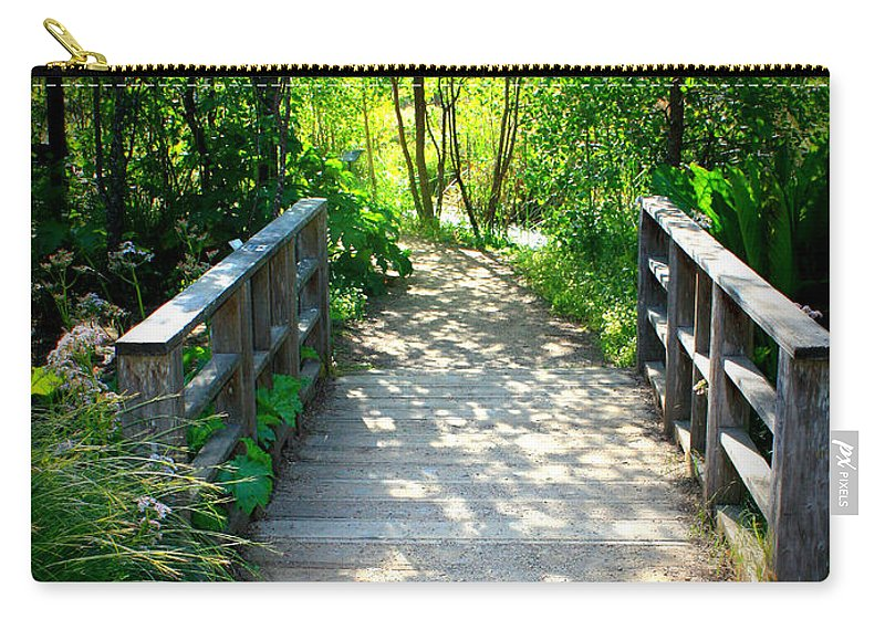 Garden Path Carry-all Pouch featuring the photograph A Walk In The Park by Carol Groenen