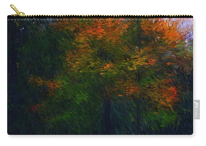 Autumn Carry-all Pouch featuring the photograph A Walk In The Park by David Lane