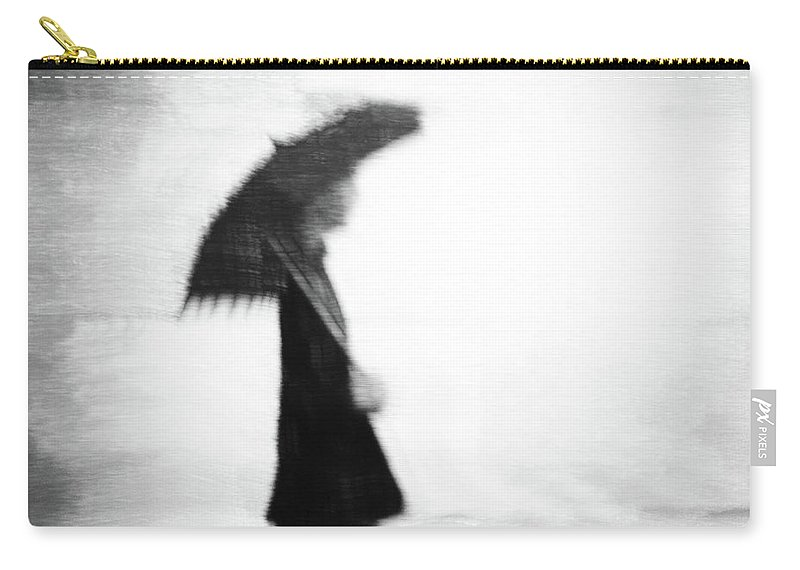 Rain Carry-all Pouch featuring the photograph A Walk In The Rain by Siegfried Ferlin