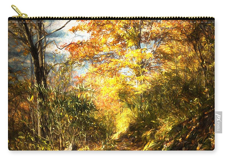 Fall Carry-all Pouch featuring the digital art The Lighted Path by John Haldane