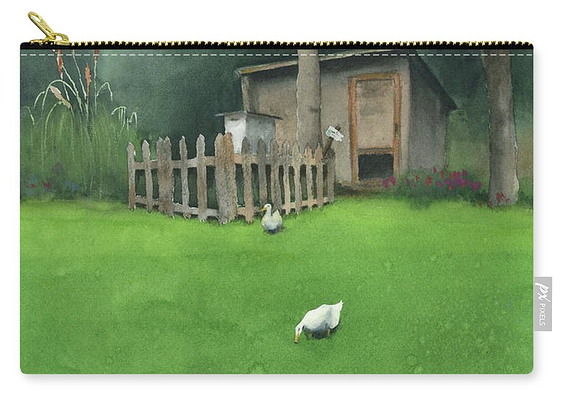 Watercolor Carry-all Pouch featuring the painting A Walk by Zapista Zapista