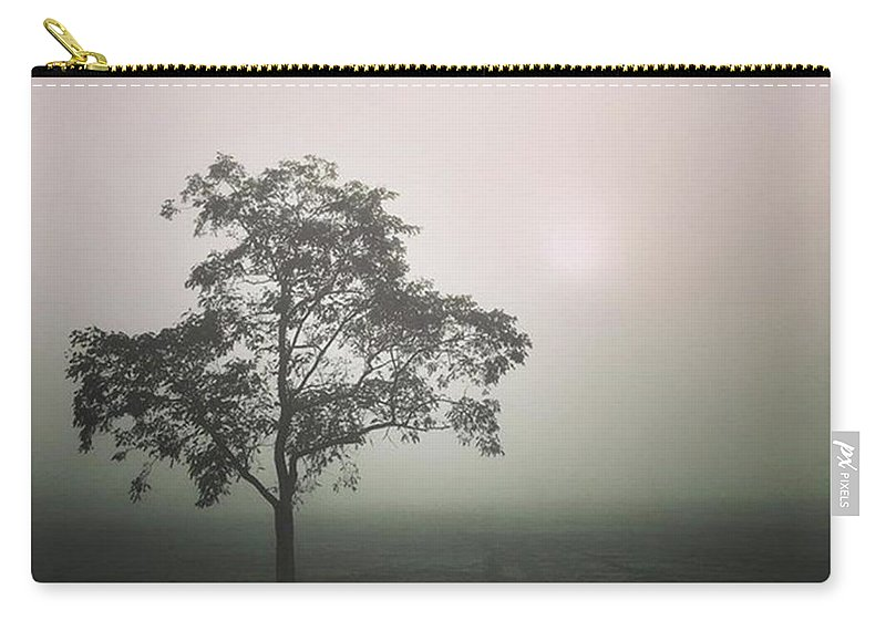 Fog Carry-all Pouch featuring the photograph A Walk Through The Clouds #fog #nuneaton by John Edwards
