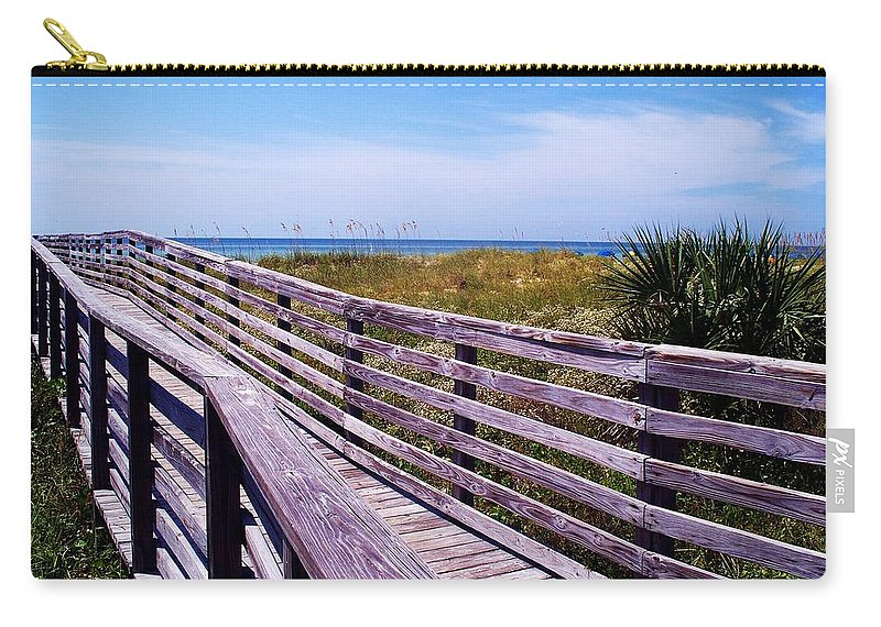 Beach Carry-all Pouch featuring the photograph A Walk To The Beach by Robin Monroe