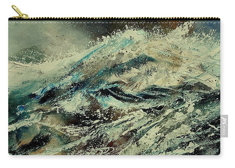 Sea Carry-all Pouch featuring the painting A Wave by Pol Ledent