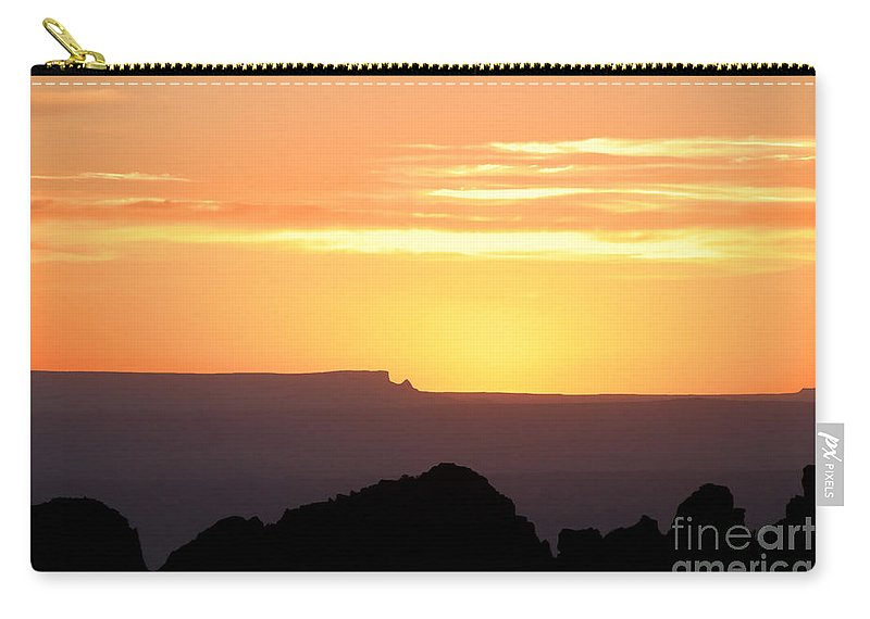 Western Us Carry-all Pouch featuring the photograph A Western Sunset by David Lee Thompson