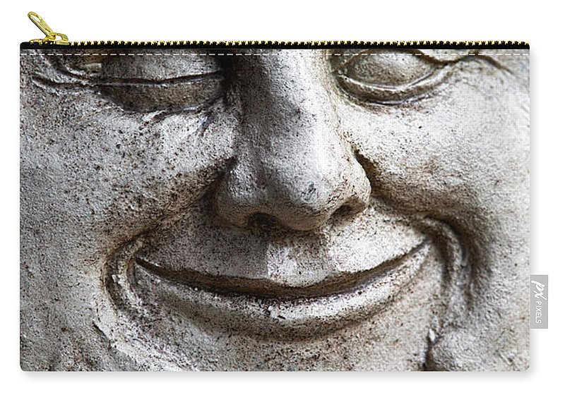 Sculpture Carry-all Pouch featuring the photograph A Wink And A Smile by Christopher Holmes