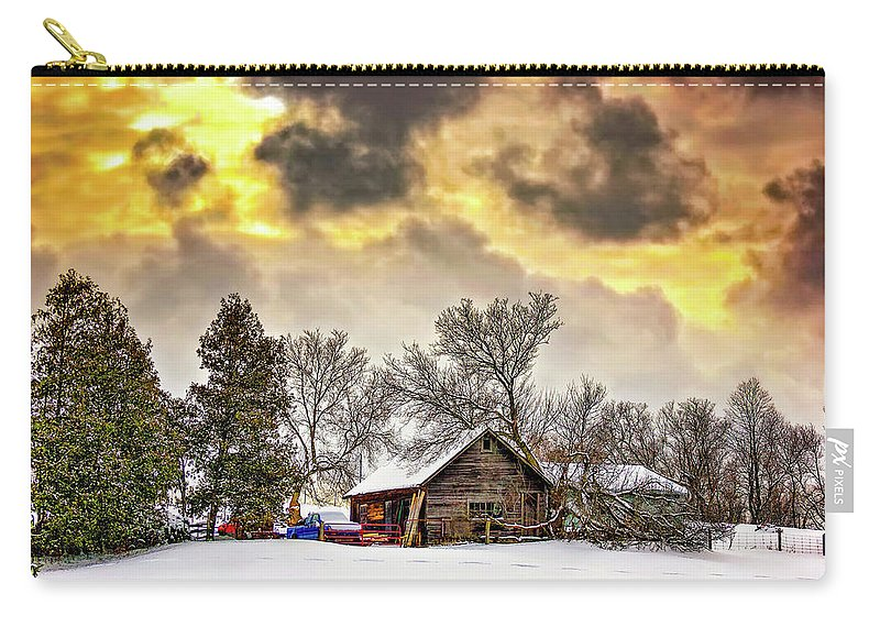 Winter Carry-all Pouch featuring the photograph A Winter Sky by Steve Harrington