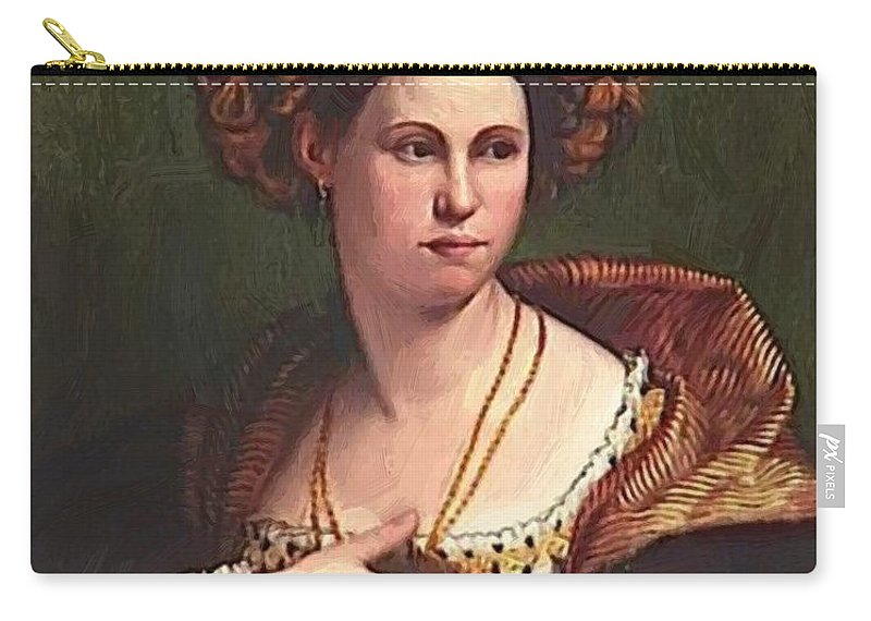 A Carry-all Pouch featuring the painting A Woman by Dossi Dosso