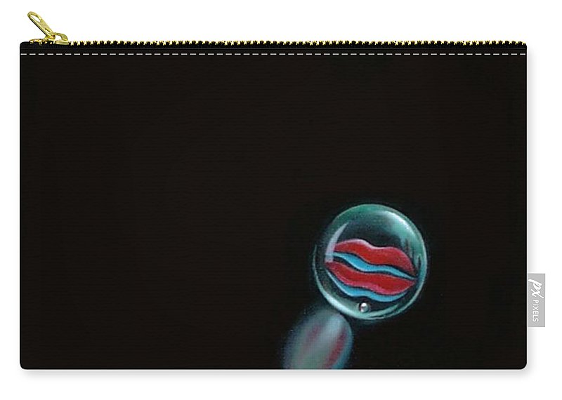Marble Carry-all Pouch featuring the painting A Woman's Kiss Sealed Forever by Roger Calle