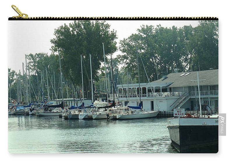 Toronto Carry-all Pouch featuring the photograph A Yacht Club by Ian MacDonald