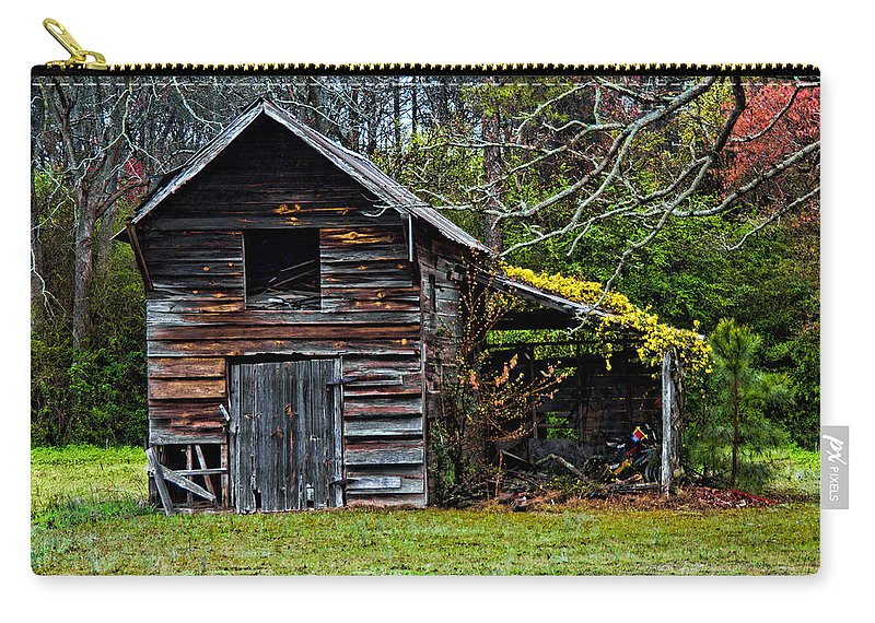 Barn Carry-all Pouch featuring the photograph A Yellow Cover by Christopher Holmes