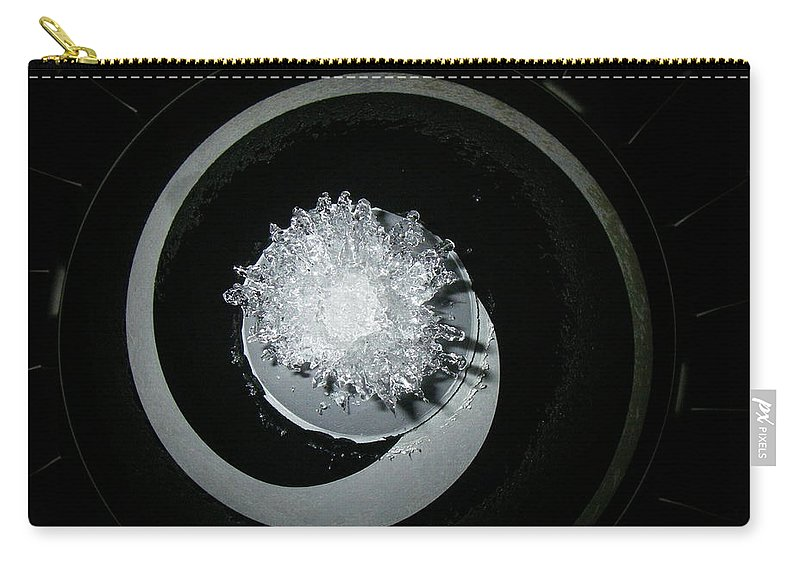 Aviation Carry-all Pouch featuring the photograph A320 Spinner Ice by Strato ThreeSIXTYFive