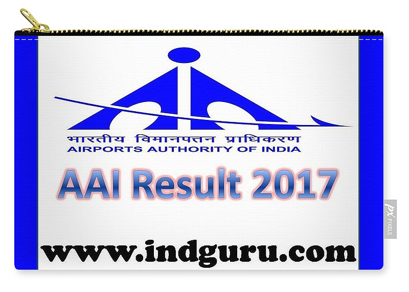 Aai Result Carry-all Pouch featuring the digital art Aai Result 2017 by Ind Guru