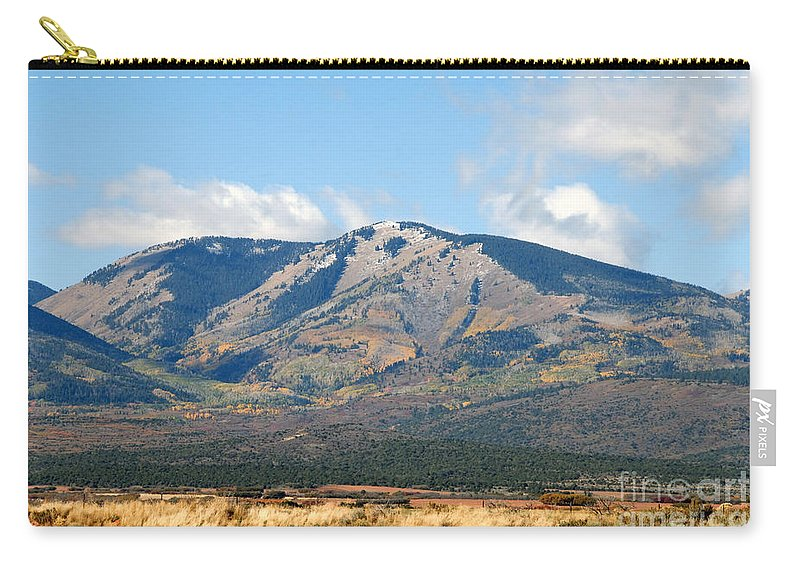 Abajo Mountains Utah Carry-all Pouch featuring the photograph Abajo Mountains Utah by David Lee Thompson