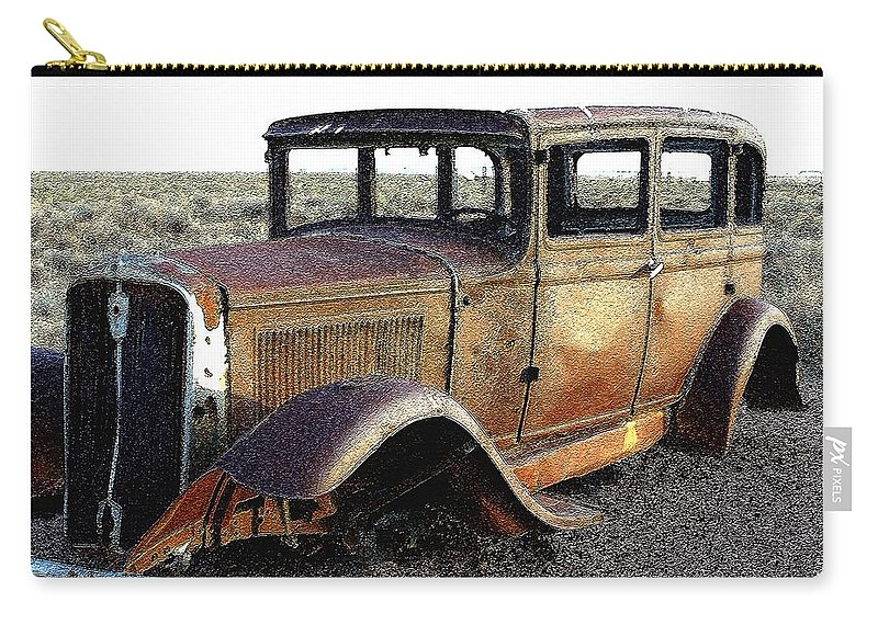 Arizona Carry-all Pouch featuring the photograph Abandonded Along Rt 66 by Nelson Strong