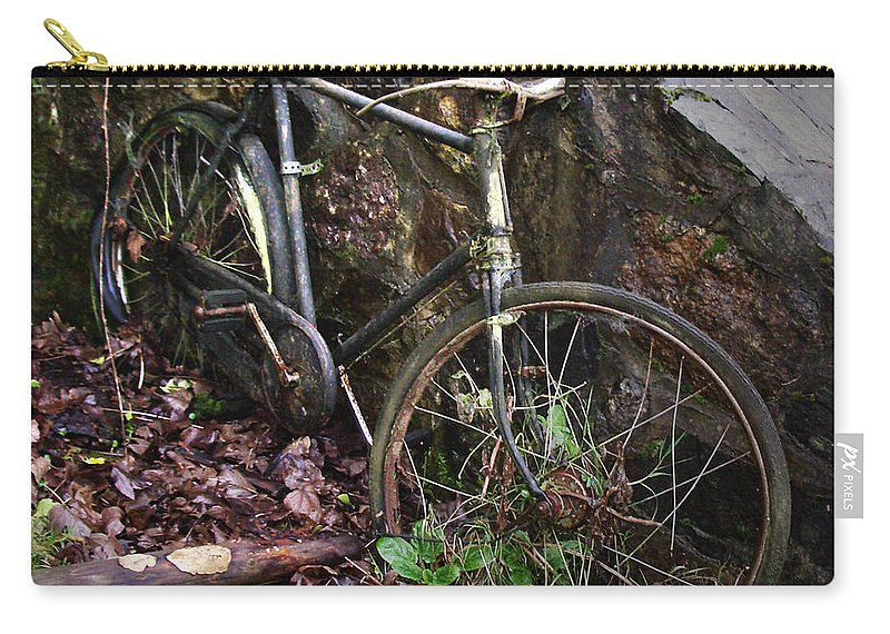 Irish Carry-all Pouch featuring the photograph Abandoned Bicycle by Tim Nyberg