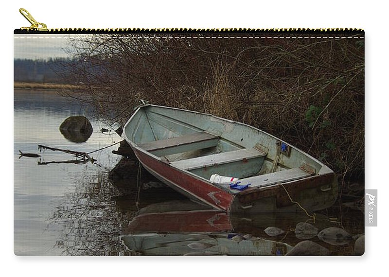 Abandoned Carry-all Pouch featuring the photograph Abandoned Boat by Cindy Johnston