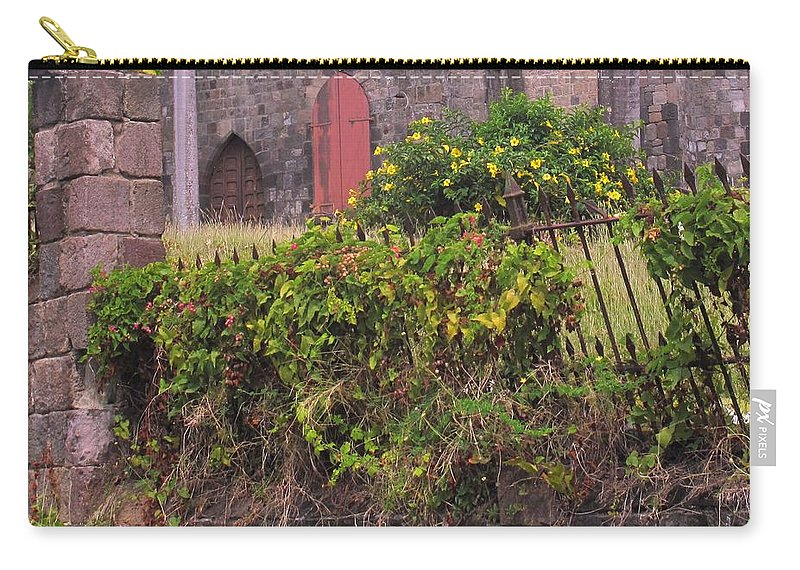 Anglican Carry-all Pouch featuring the photograph Abandoned Churchyard by Ian MacDonald