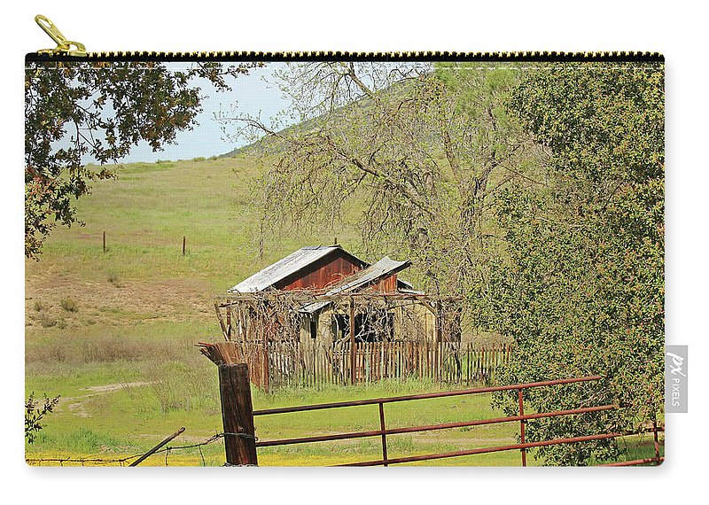 Soledad Carry-all Pouch featuring the photograph Abandoned Homestead by Art Block Collections
