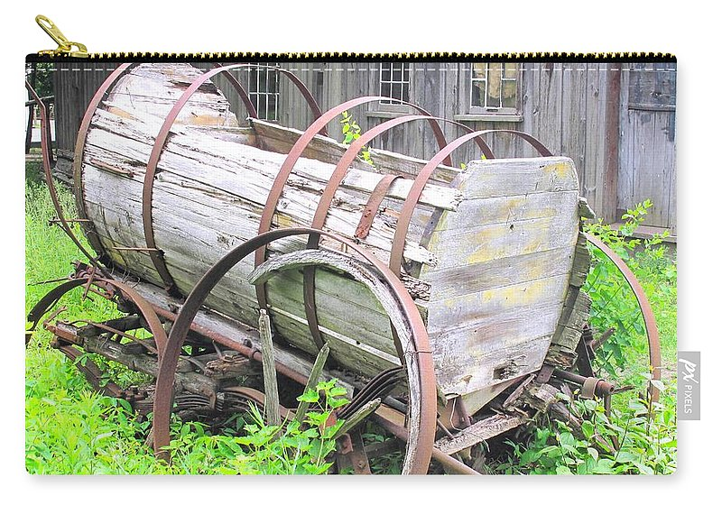 Wagon Carry-all Pouch featuring the photograph Abandoned by Ian MacDonald