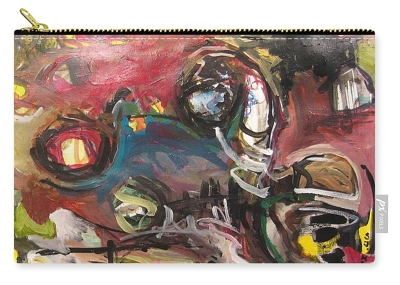 Abstract Paintings Carry-all Pouch featuring the painting Abandoned Ideas by Seon-Jeong Kim