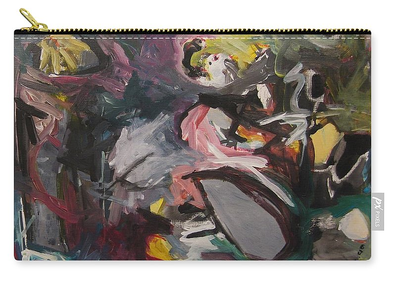 Abstract Paintings Carry-all Pouch featuring the painting Abandoned Ideas4 by Seon-Jeong Kim