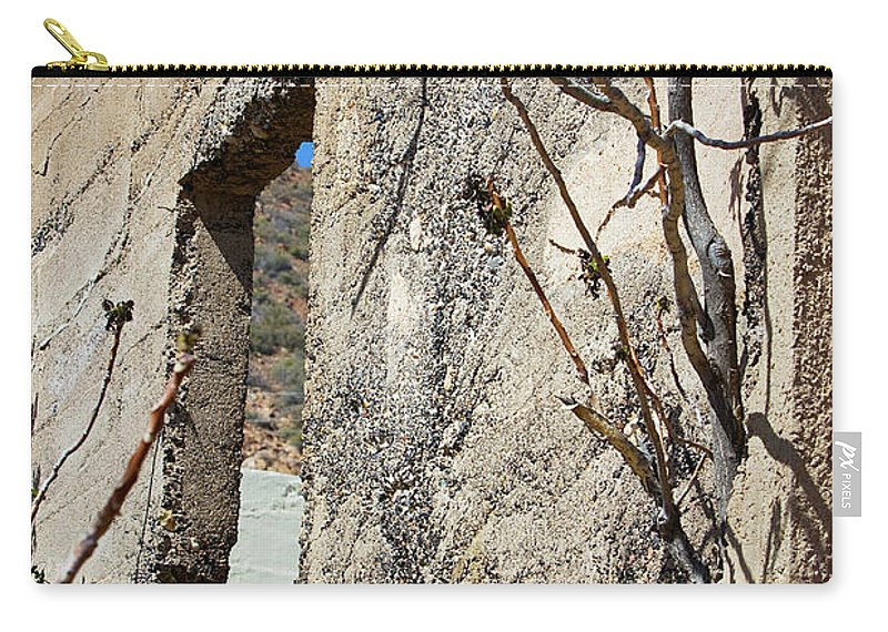 Wall Carry-all Pouch featuring the photograph Abandoned by Phyllis Denton