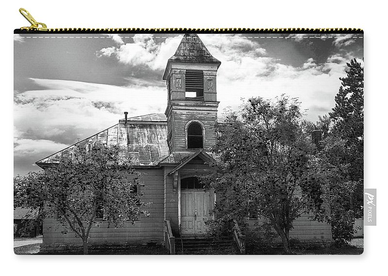School Carry-all Pouch featuring the photograph Abandoned School by C H Apperson