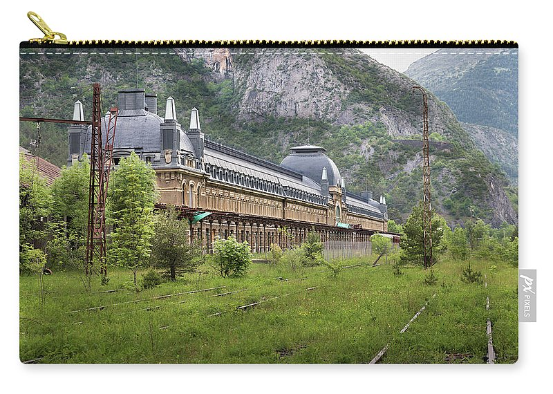 Canfranc Carry-all Pouch featuring the photograph Abandoned Side Of The Canfranc International Railway Station by RicardMN Photography