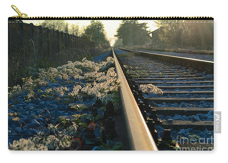 Train Carry-all Pouch featuring the photograph Abandoned Tracks by Photos By Zulma