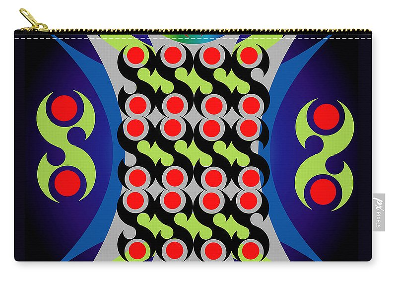 Geometric Carry-all Pouch featuring the digital art Abastraction 2 by George Pasini
