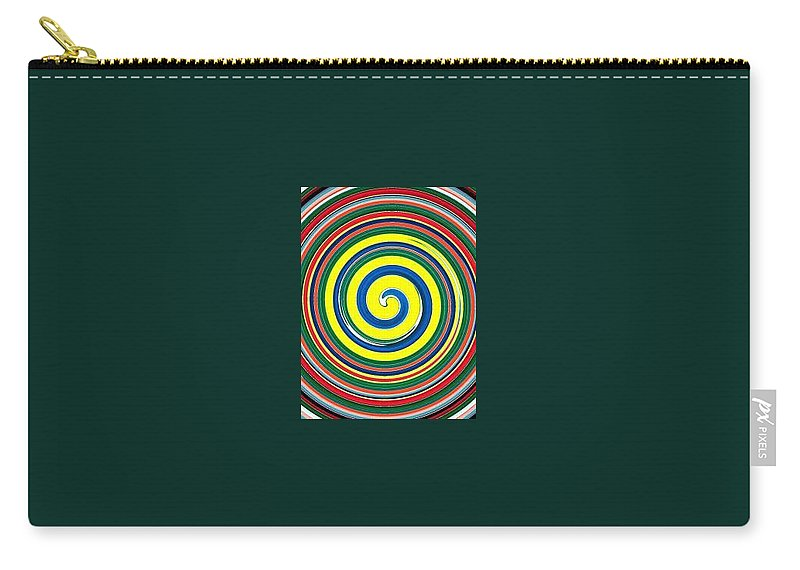 Digital Spiral Carry-all Pouch featuring the painting Abb1 by Andrew Johnson