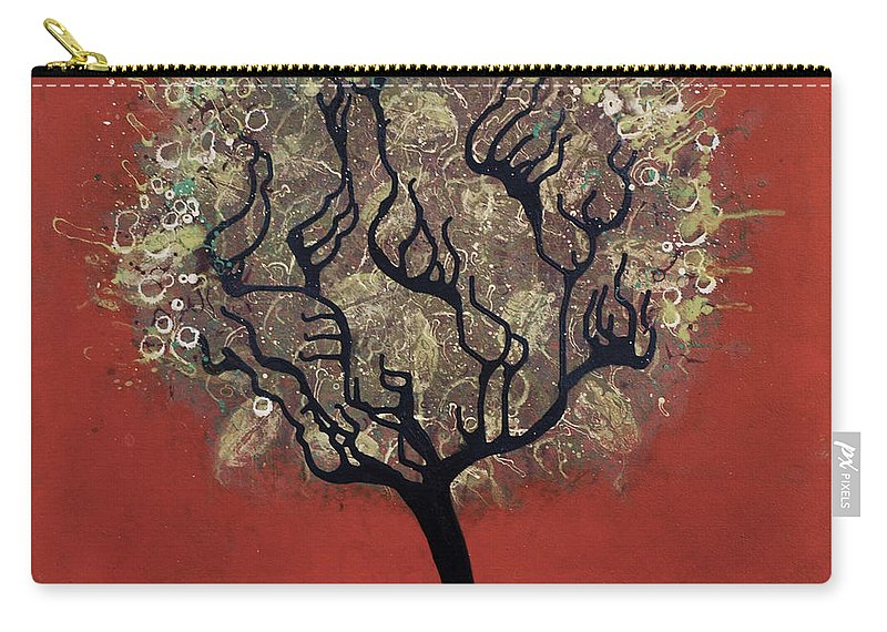 Tree Carry-all Pouch featuring the painting Abc Tree by Kelly Jade King