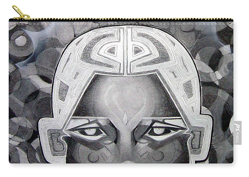 Art Carry-all Pouch featuring the drawing Abcd by Myron Belfast