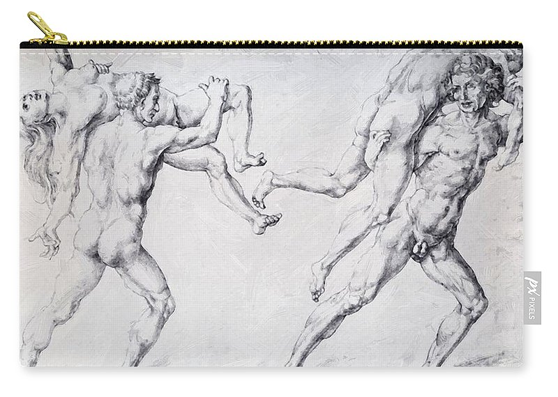 Abduction Carry-all Pouch featuring the painting Abduction Of A Woman Rape Of The Sabine Women 1495 by Durer Albrecht