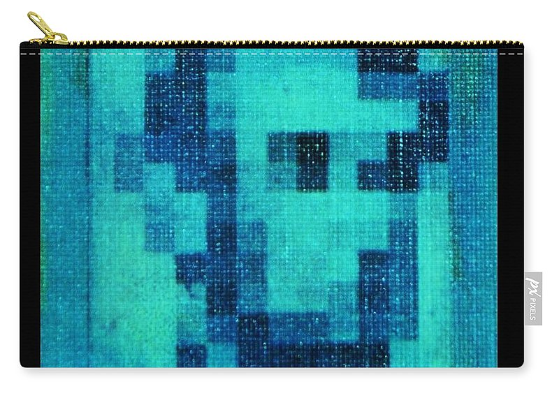 Blue Carry-all Pouch featuring the photograph Abe In Aqua by Rob Hans