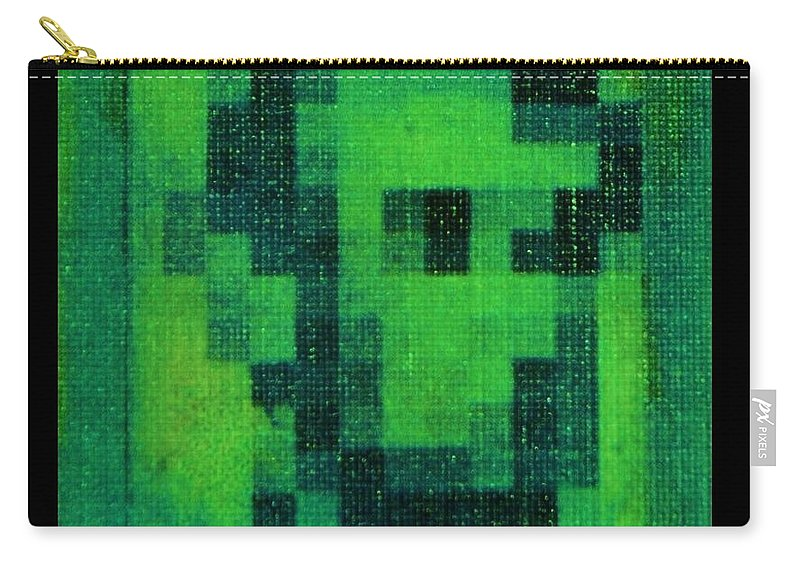 Green Carry-all Pouch featuring the photograph Abe In Green by Rob Hans